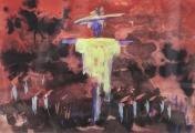 """<h5>Vanja Radauš</h5><p>""""Strašilo"""" Akvarel na papiru, 25x35 cm Cijena: 3.125,00 kn</p>"""