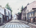 """<h5>Živko Toplak</h5><p>Živko Toplak """"Kompozicija"""" Akvarel, 50x40 cm Cijena: 1.500,00 kn</p>"""