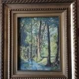 """<h5>Gabrijel Jurkić</h5><p>Gabrijel Jurkić """"Ljetno jutro uz potok"""" 1927., ulje na kartonu, 30x23,5 cm, sign. Cijena : 8.000,00 Kn</p>"""