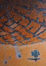 """<h5>Ivan Listeš</h5><p>""""Napušteni planet"""" Akril i ulje na platnu, 50 x70 cm Cijena: 3.900,00 kn</p>"""