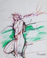 <h5>Zlatko Prica</h5><p>Pastel i flomaster na papiru, 35x43 cm, 1985. Cijena : 3.500,00 Kn</p>