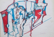 <h5>Zlatko Prica</h5><p>Flomaster, papir, 30x21, 1972. Cijena . 2.000,00 Kn</p>