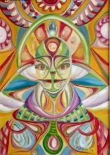 """<h5>Ivana Ribičić</h5><p>""""Maska"""" Ulje na platnu, 50x70 cm, 2008. Cijena: 7.000,00 Kn</p>"""