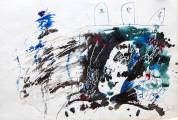 """<h5>Ivo Šebalj </h5><p>""""Slikar"""" Močilo i tempera, 102x72 cm 1989. godina Cijena: 4.375,00 kn</p>"""