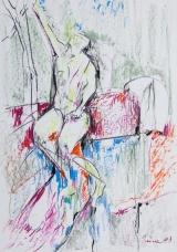 <h5>Zlatko Prica</h5><p>Pastel na papiru, 35x50, 1983. Cijena : 5.000,00 Kn</p>