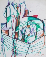<h5>Zlatko Prica</h5><p>Flomaster, papir, 23x29, 1980. Cijena : 2.500,00 Kn</p>