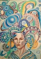 """<h5>Ivana Ribičić</h5><p>""""Melodija"""" Ulje na platnu, 50x70 cm, 2016. Cijena: 4.000,00 Kn</p>"""